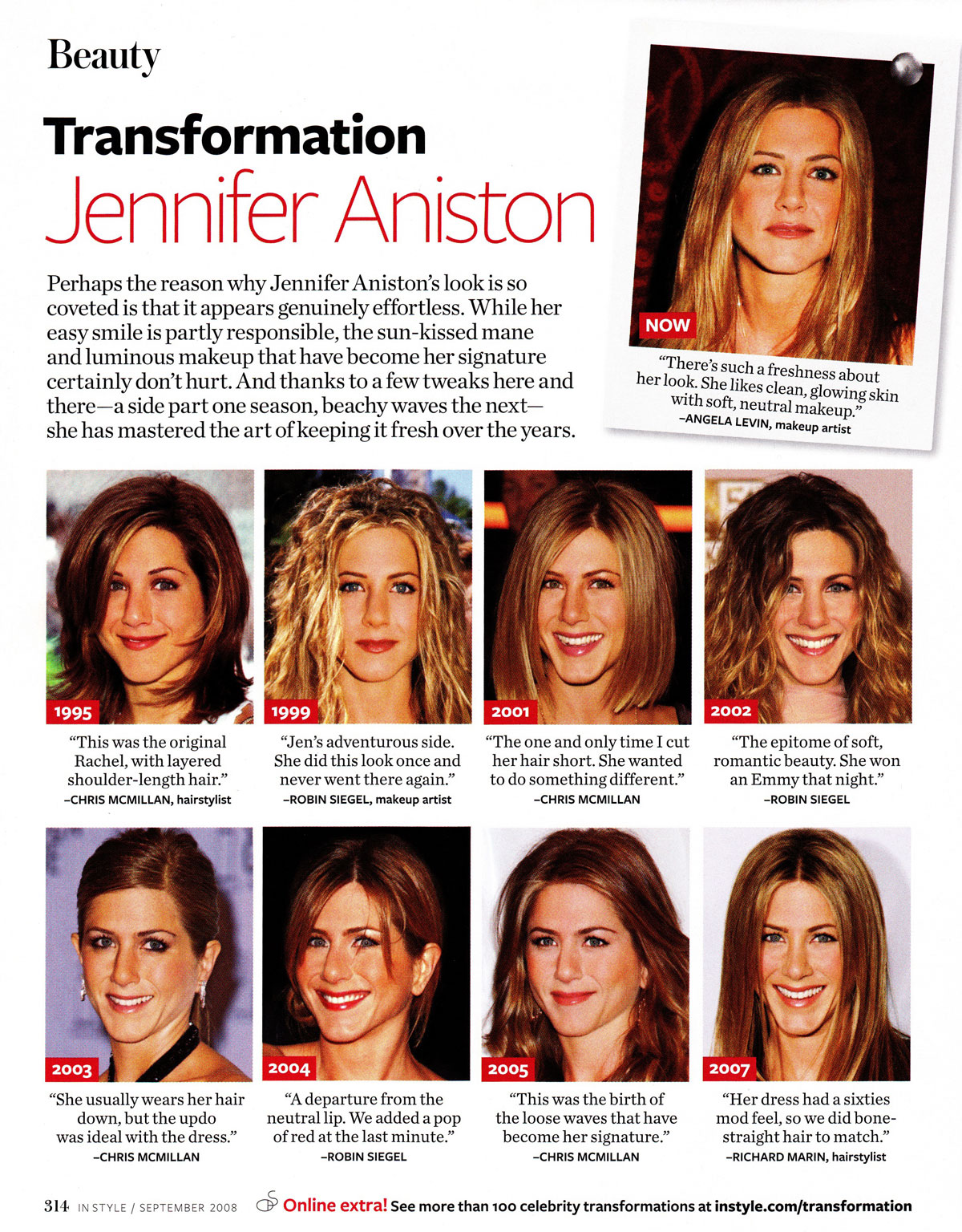 InStyle Transformation | Jennifer Aniston